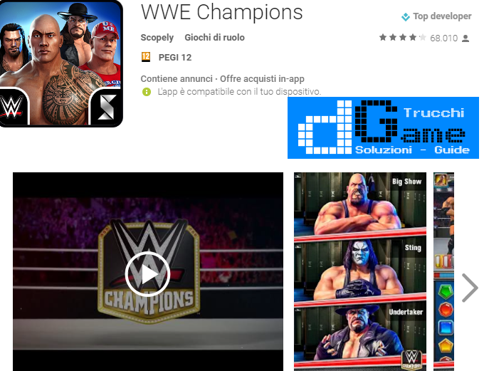 Trucchi WWE Champions Free Puzzle RPG Mod Apk Android v0.131