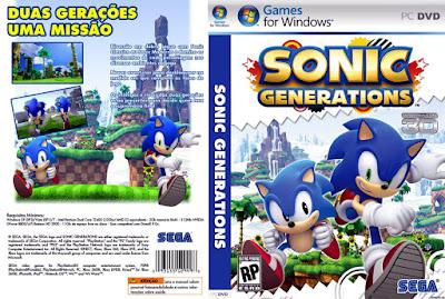 Jogo Sonic Generation PC DVD Capa