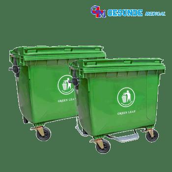Tempat Sampah Plastik Ukuran Besar 1100 Liter