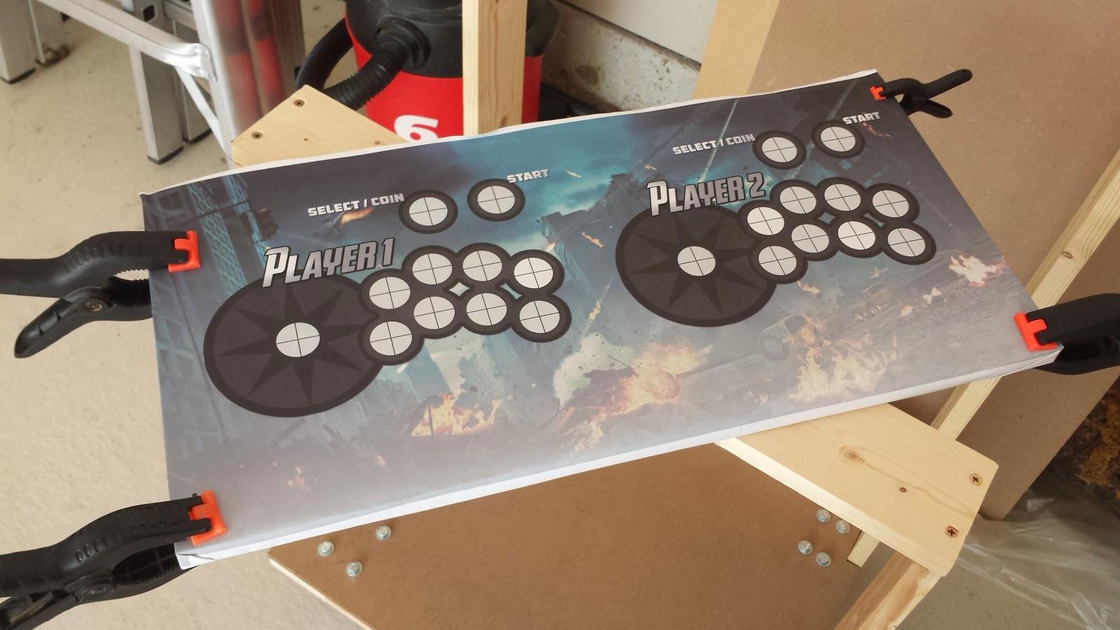 Arcade Cabinet: Control Panel | RxBrad.com