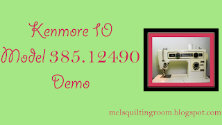 Kenmore 385.12490 Sewing Machine @homeecmel