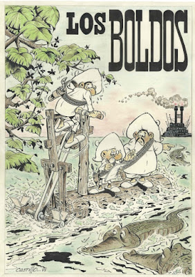 Ilustración a gran tamaño de Los Boldos (publicados en Alemania como Papi Tomato)