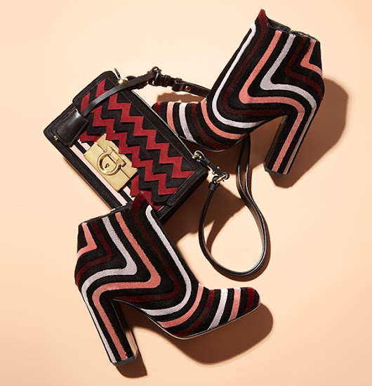Embroidered Velour Block-Heel Booties