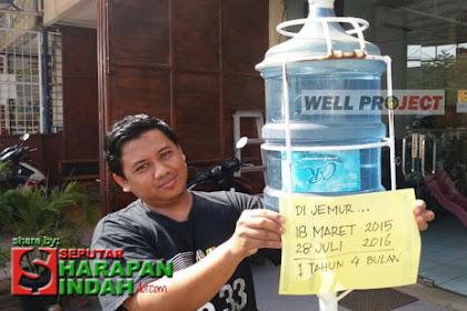 Air Dijemur 1 Tahun 4 Bulan Tidak Berlumut