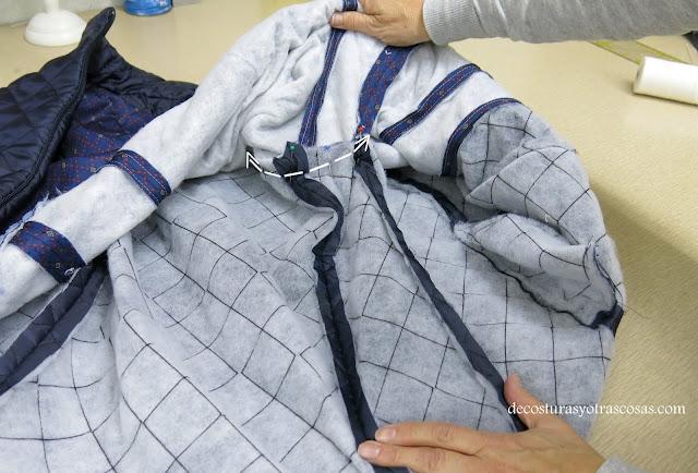como coser las sisas de un chaleco por el revés