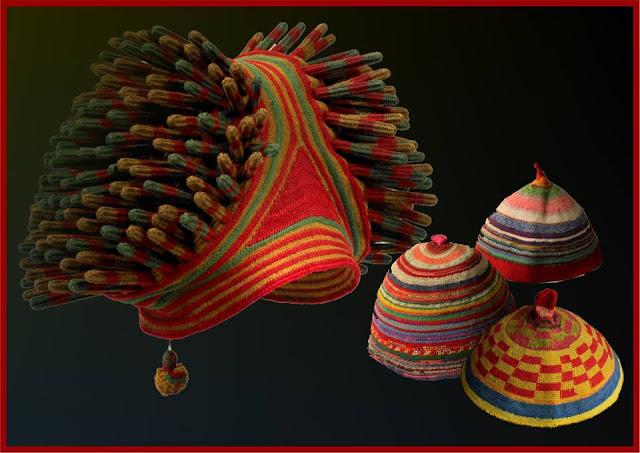 czapki afrykanskie szydelkiem