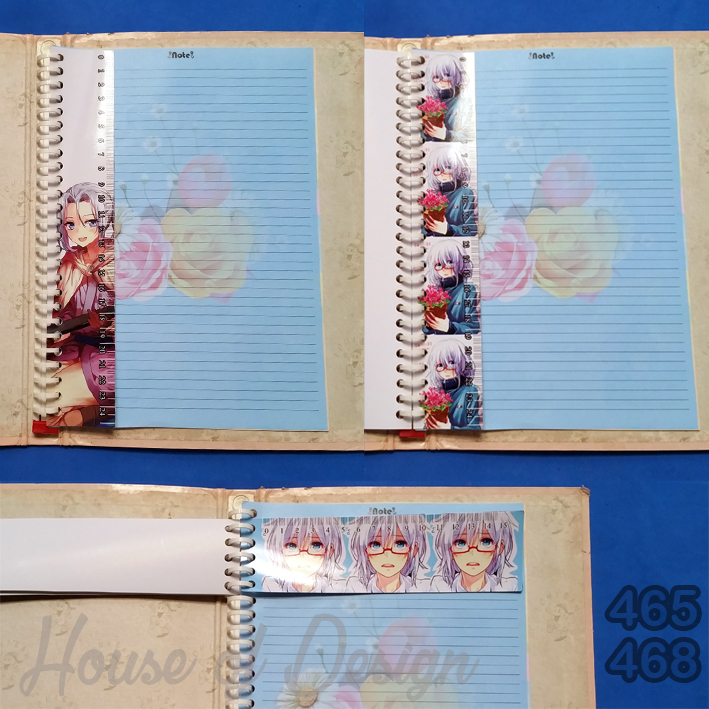 PENGGARIS BINDER 26 RING UKURAN B5 ANIME CUSTOM