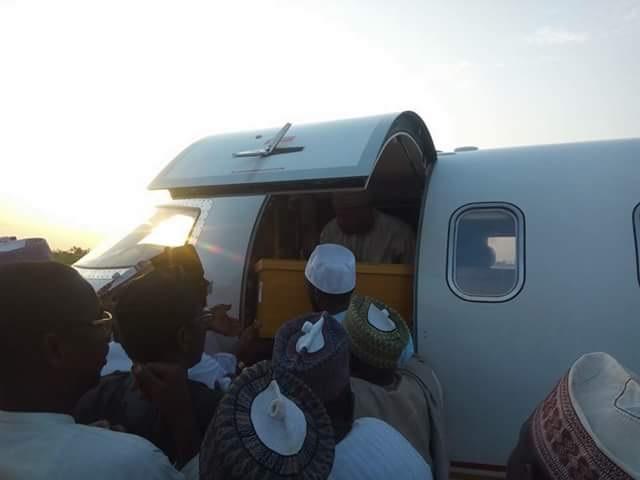Sad! Remains Of Hadiza Lamido, Who Died At Age 38, Arrives Jigawa Airport. (Photos)
