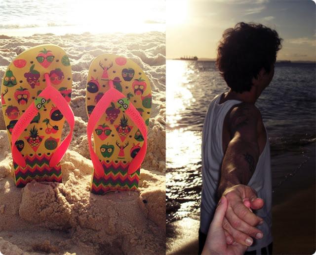havaianas, blog de casal, look de casal, jell e marcelo, blog retrô