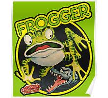Frogger Retro Gaming Poster