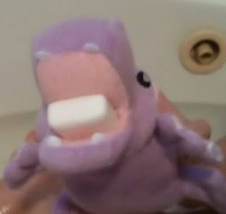 harper the hippo eating soap