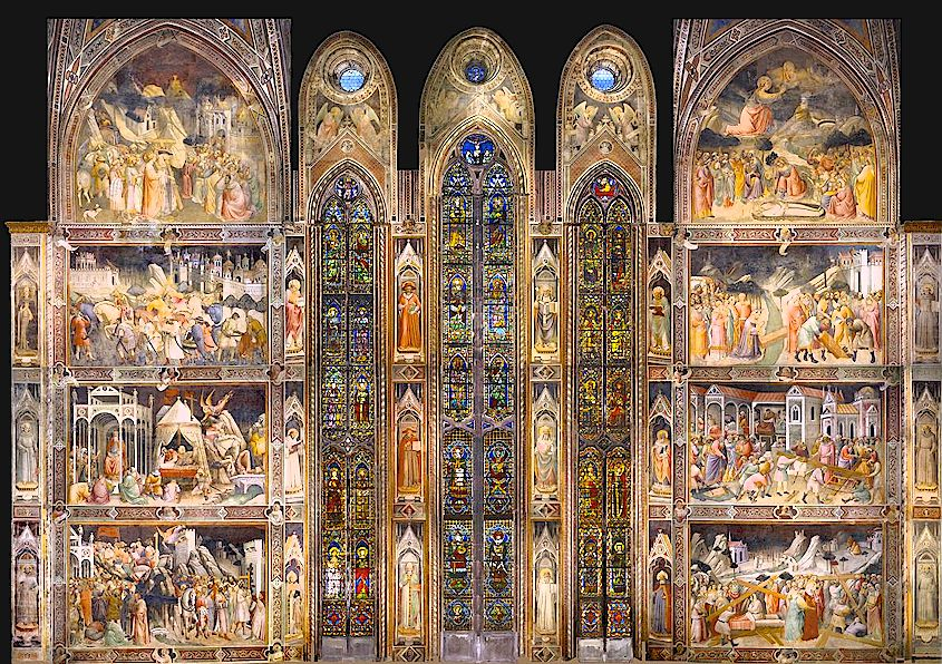 Agnolo Gaddi's frescoes in the Basilica of Santa Croce