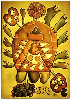A Grande Tartaruga [Francisco Brennand] (1981) Óleo sobre Tela