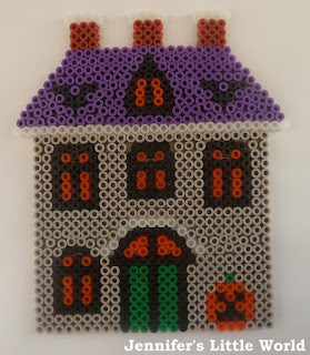 Hama bead haunted house for Halloween design