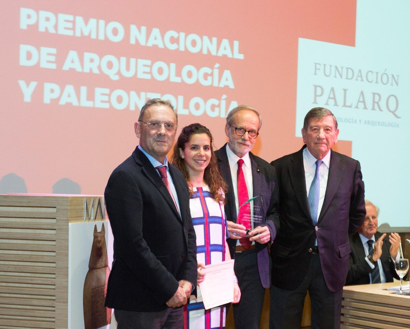 Entrega de Premio Nacional de Arqueología y Paleontología de la Fundación Palarq