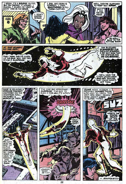 X-men v1 #120 marvel comic book page art by John Byrne