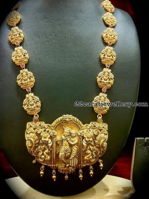 Lakshmi Haram with Krishna Pendant