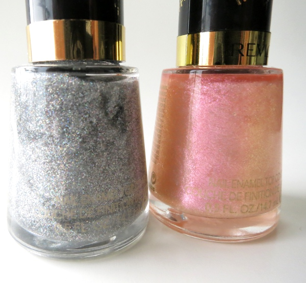 Revlon Transforming Effects Top Coats Pink Glaze and Holographic Pearls