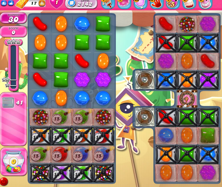 Candy Crush Saga level 2142