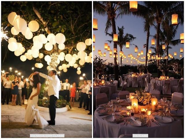 lanternas iluminação casamento