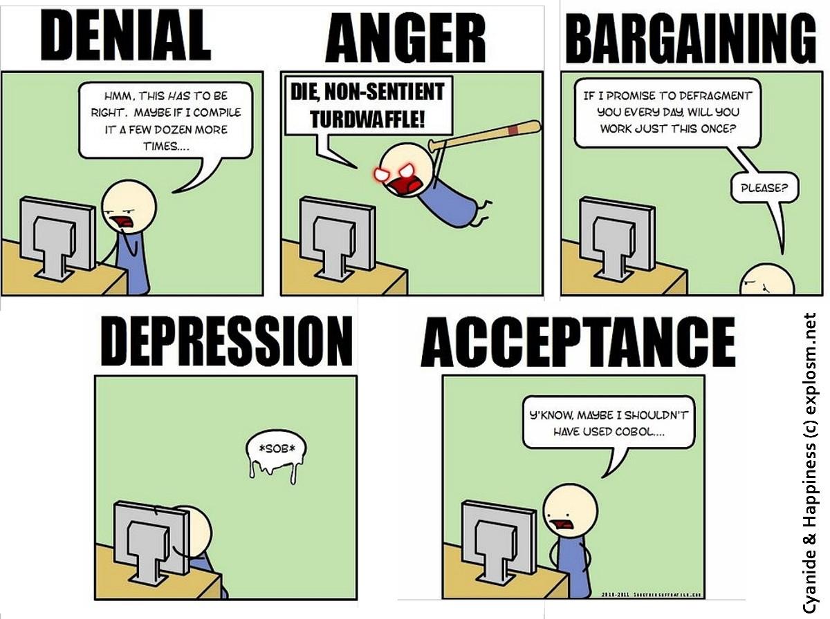 5 Stages Of Developer Grief