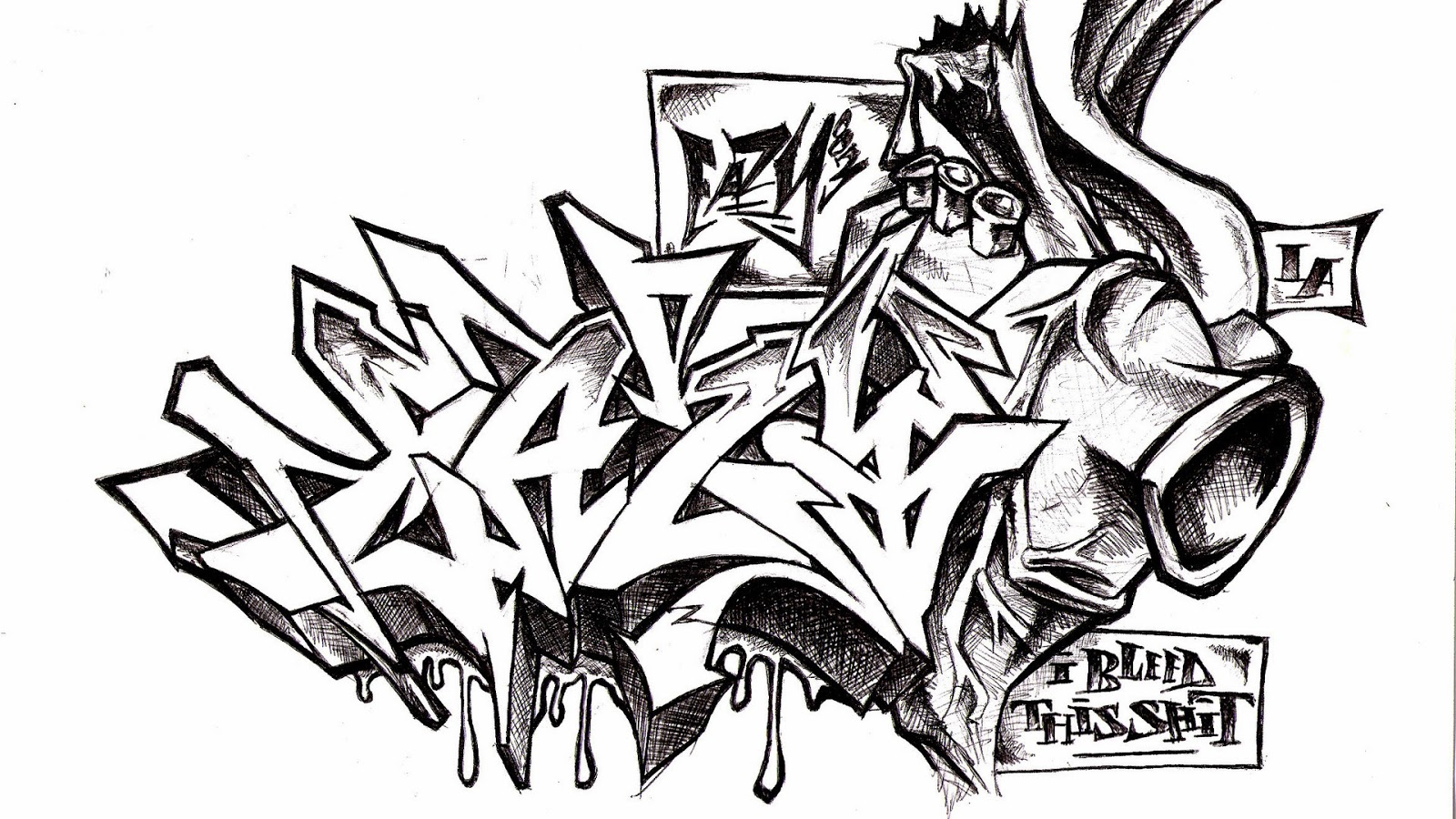 Graffiti Lettering Cool Characters Alphabets Fonts Urbanist