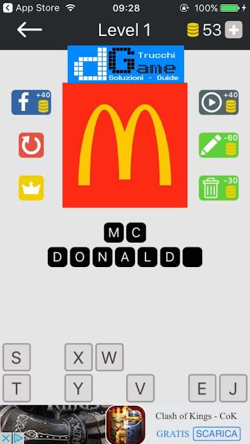 Food Quiz-Indovina il marchio soluzione pacchetto 1 livelli (1-12)