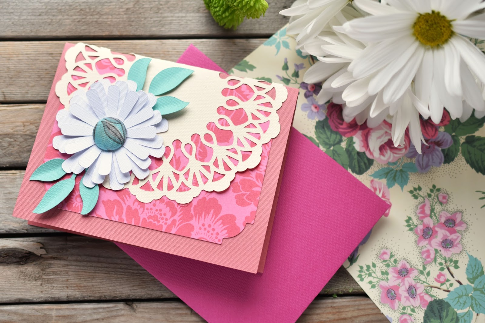 woman in real life making cards with cricut's new anna