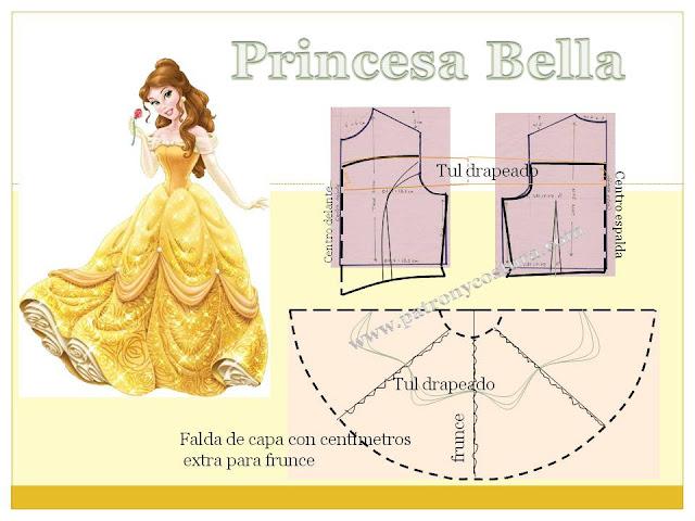 www.patronycostura.com/Bella princesa Disney.Tema 203