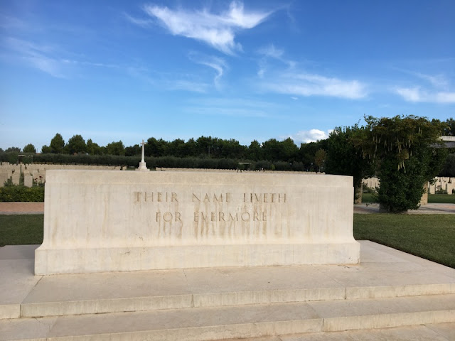 Monument at Moro River Canadian War Cemetery in Ortona, Italy