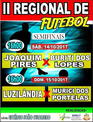 Prefeitura de Joaquim Pires convida a população para as Semifinais do II Regional de Futebol