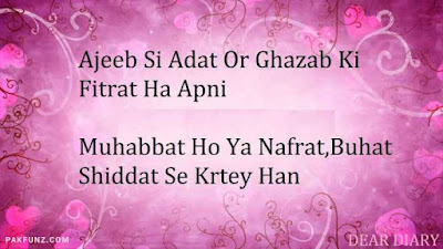 dear diary urdu poetry, love quotes, thoughts and silent words 3