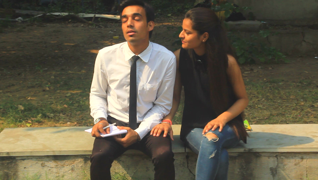 A Still from Aashiqui - Not A Love Story, starring Abhishek Kumar, Anjali Gautam, Directed by Murtaza Ali Khan and Nikhil Raman, Ed Wood Productions