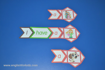 Stories made up of sight words flashcards
