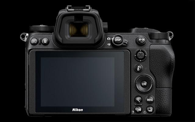 Kamera Nikon Z7 bagian belakang