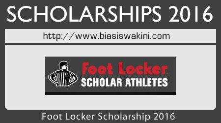 Foot Locker Scholarship 2016