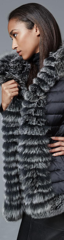 Belle Fare Reversible Fur-Trim Vest with Hood