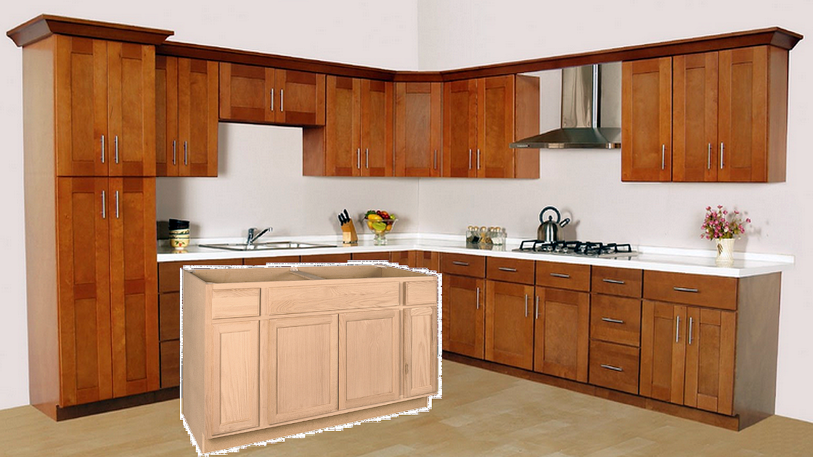 Staining Unfinished Kitchen Cabinets How To Finish Unfinished Kitchen Cabinets