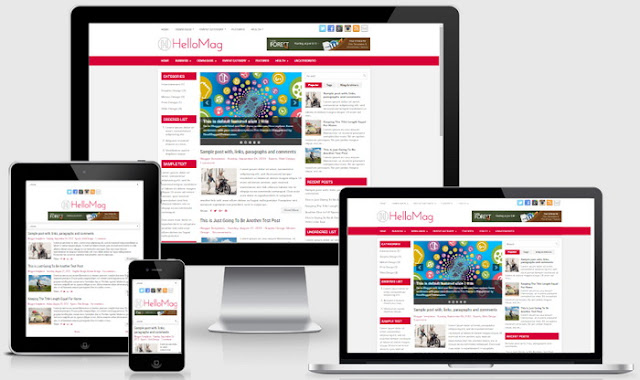 HelloMag Blogger template