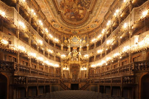 Margravial Opera House, Bayreuth - © Bavarian Department for State-owned Palaces, Gardens and Lakes (BSV) photo: Heiko Oehme