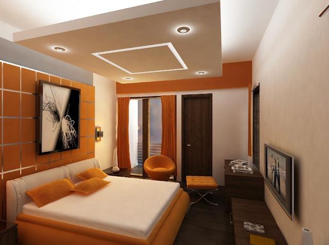 kamar tidur utama minimalis ukuran 3x3