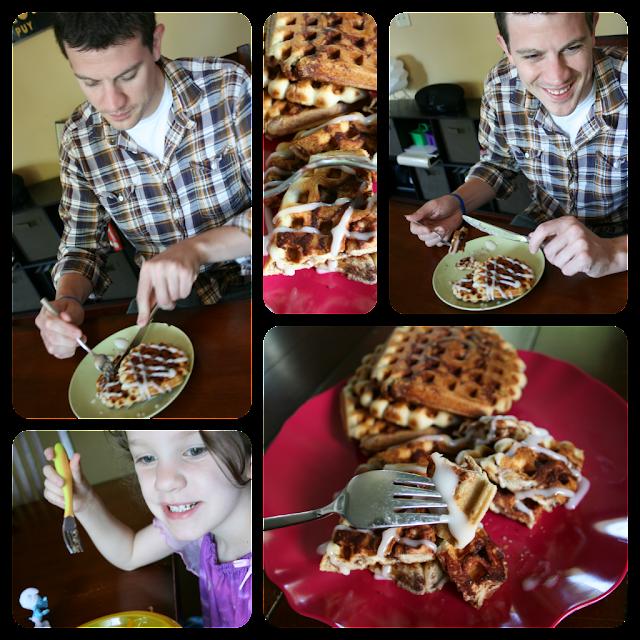 Cinnamon Rolls: Waffle Style