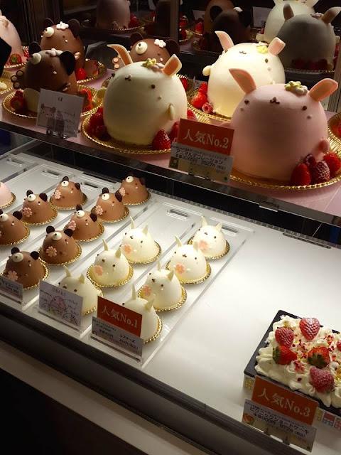 Cute Japanese Cake at Seibu Department Store Ikebukuro Japan