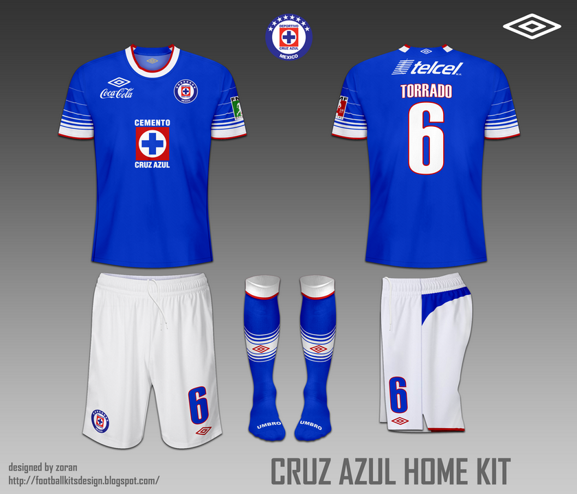 f08fcb1d6 ... of the Mexican Football League. The home kit is blue-white-blue