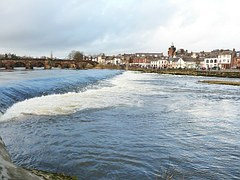 The River Nith flowing through Dumfries