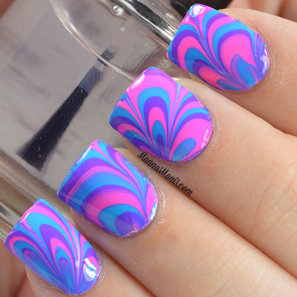 watermarble nail art tutorial
