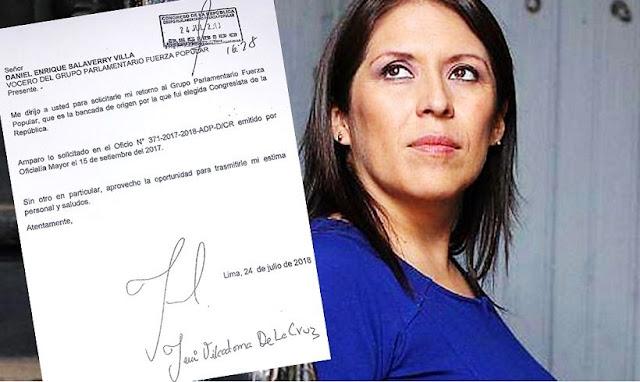 Yeni Vilcatoma: Congresista independiente vuelve al fujimorismo