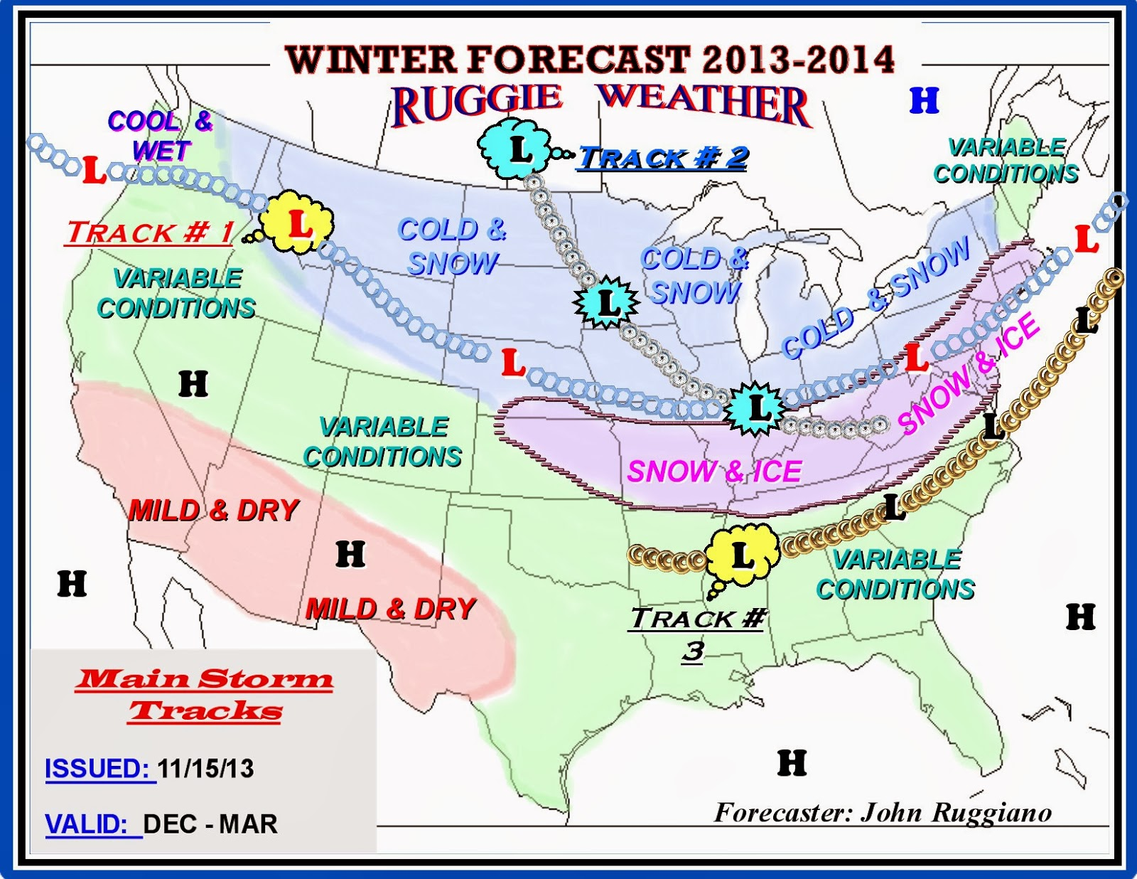 RUGGIE WEATHER My 20132014 Winter Forecast