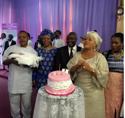 See photos from the dedication of actress Toyin Adegbola's first grandchild