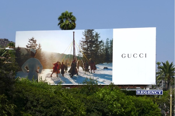 Gucci maypole dance Fall 2018 billboard